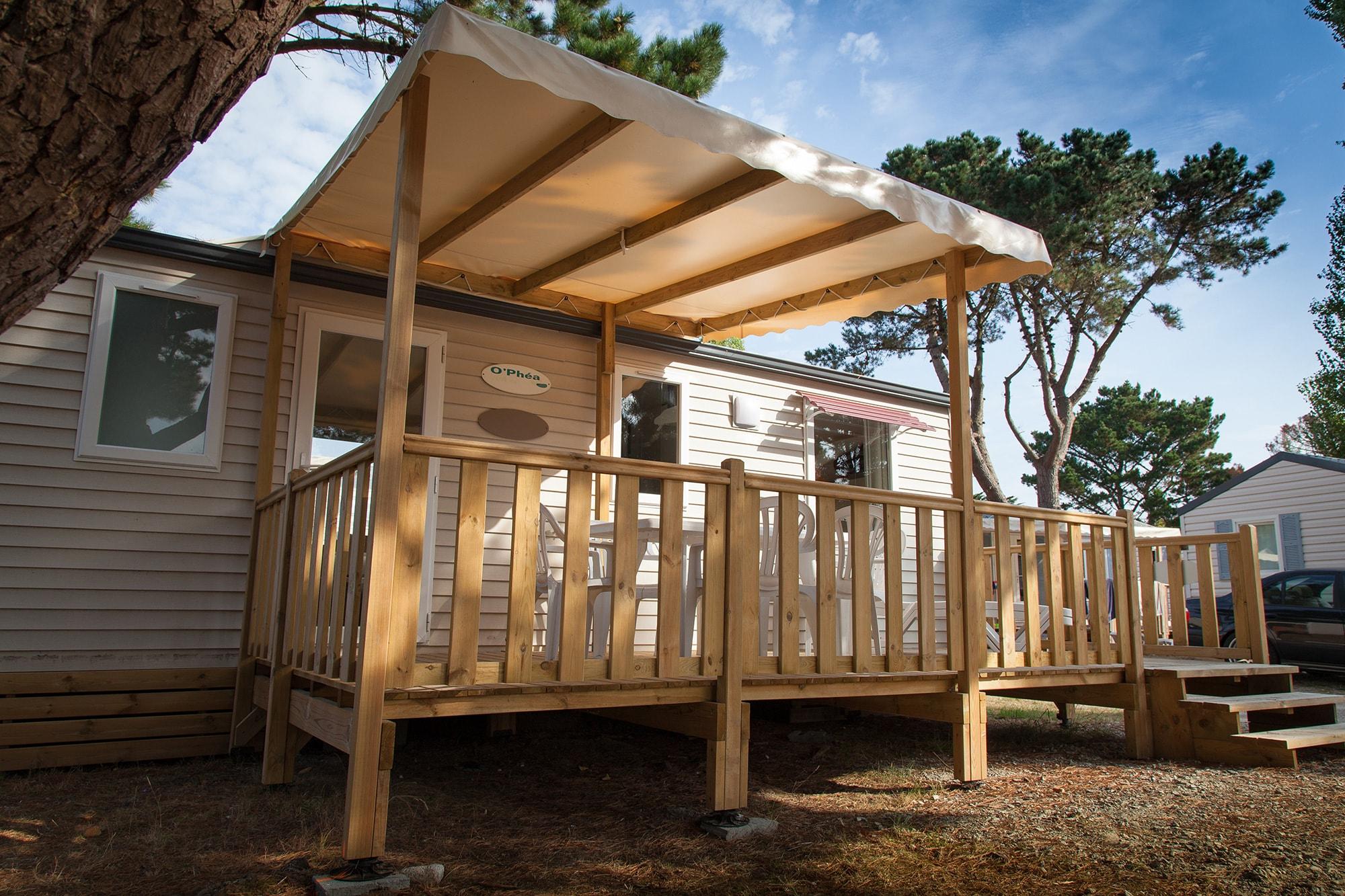 Exceptional Couvertures Terrasses Pour Mobil Homes : Bâche PVC Ou Panneau Tuile