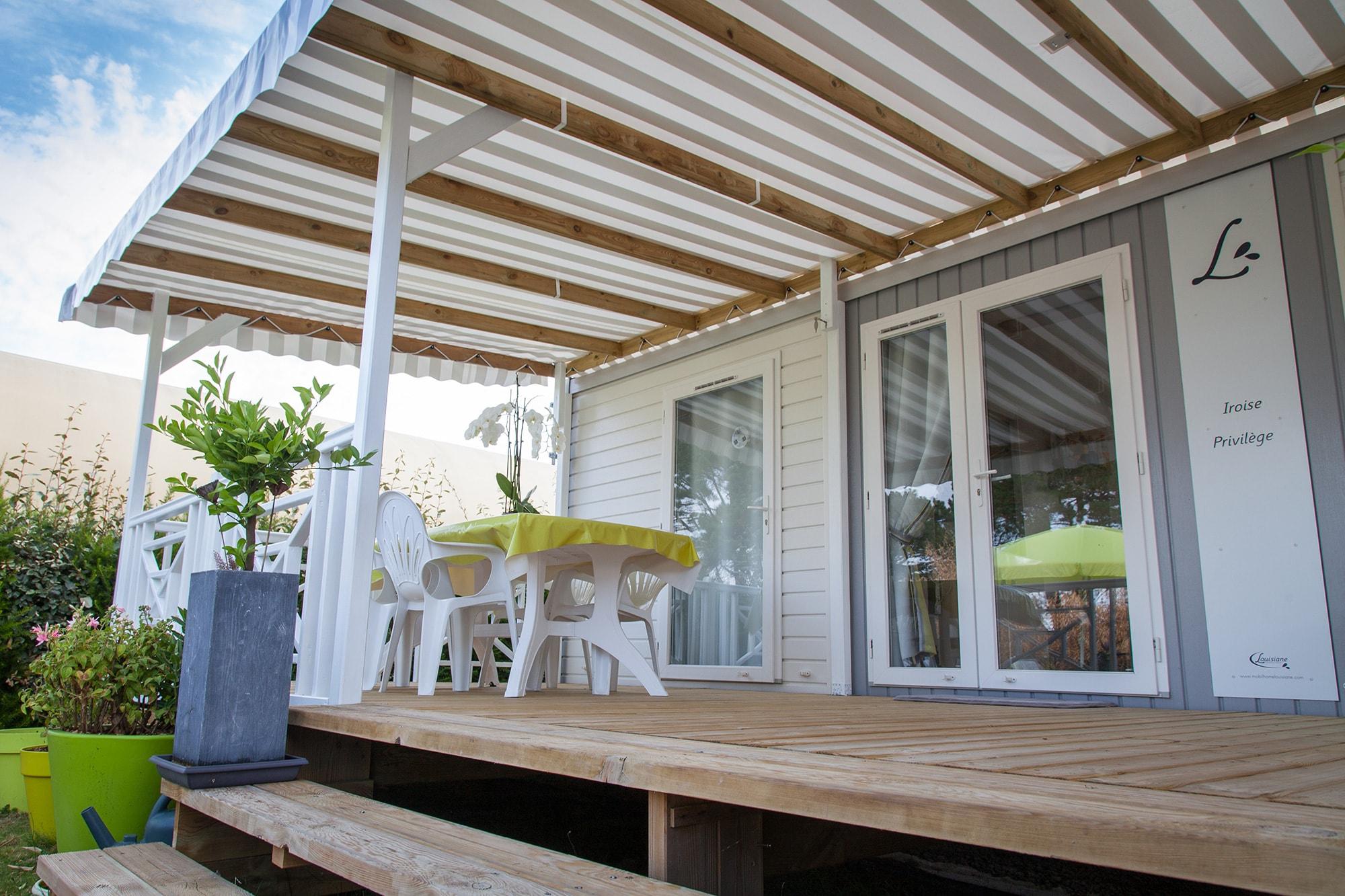 couvertures terrasses pour mobil homes b che pvc ou. Black Bedroom Furniture Sets. Home Design Ideas